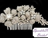 Bridal Comb, Rhinestone Comb, Bridal Comb Crystal, Wedding Crystal Hair Comb, Hair Comb, Wedding Accessory, Bridal Headpiece - Thea