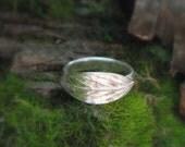 Leaf Ring - Real Leaf Ring - Woodland Leaf Ring - Elven Leaf Ring - Silvan Leaf - Artisan Handcrafted Recycled Fine Silver - Silvan Arts