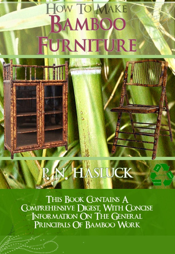 how to make bamboo furniture rare illustrated book 157 pages