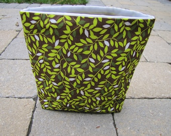Reusable Snack Sack with Velcro Closure: Rich Leaves