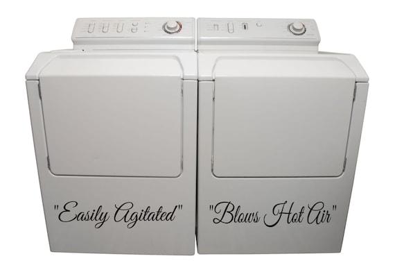 Washer Dryer Vinyl Decals Appliance Decals By