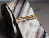 Geeky yellow Tie clip - techie tie bar - golden yellow circuit board - made by ReComputing