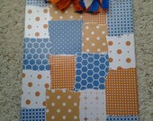 FINAL CLEARANCE - Orange and Blue Clipboard