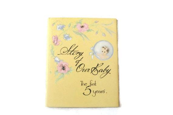 vintage baby keepsake book 1950s unused baby shower gift