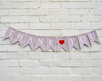 Thank You Wedding Banner - Printable Photo Prop INSTANT DOWNLOAD