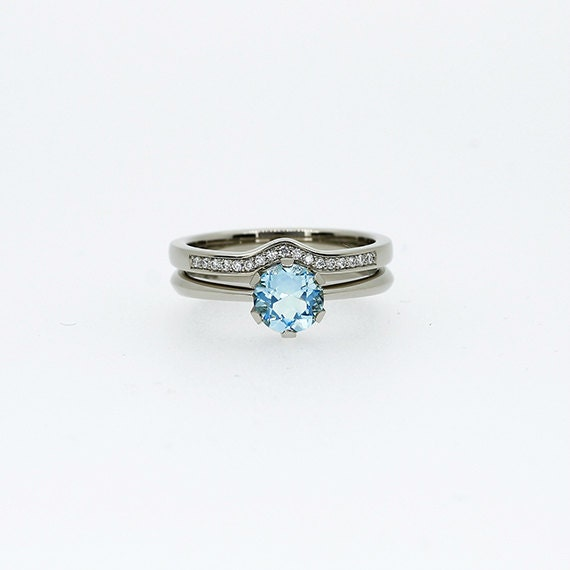 engagement ring set sky blue topaz ring engagement ring