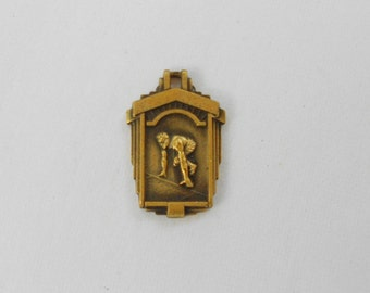 Vintage charm FCIAC Athletic 3rd Place Medal 1958  Interscholastic Conference 440 Yard Dash