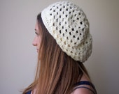 Crochet pattern woman slouchy hat, slouchy hat, granny cluster hat, beanie, beret, woman hat, woman beret, DIY tutorial