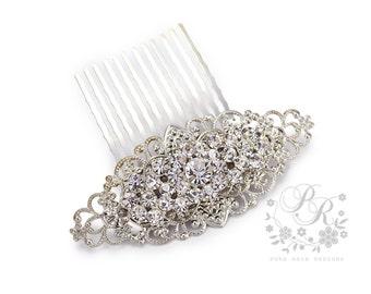 Wedding Hair Comb Rhinestone Hair Comb Bridal Hair Accessory Wedding Jewelry Bridal Jewelry Wedding Accessory Bridesmaid Hair Comb meteor