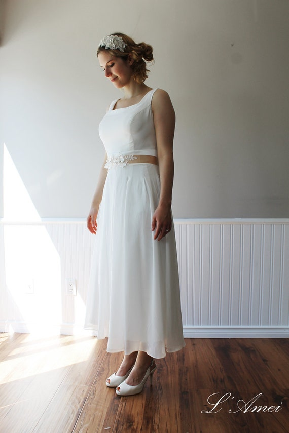 Simple wedding or bridesmaid dress can be made with by lamei for Simple cotton wedding dress