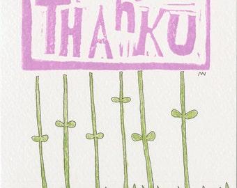"""A """"Thank u"""" card"""