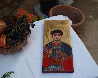 St. Demetrius of Thessaloniki, Eastern orthodox Saint Dimitrios, greek russian byzantine icon, hellenic hagiography, christian art