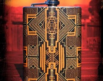 Gatsby's American Dream 8 oz. Flask // Great Gastby Flask // Hip Flask // 8 oz flask