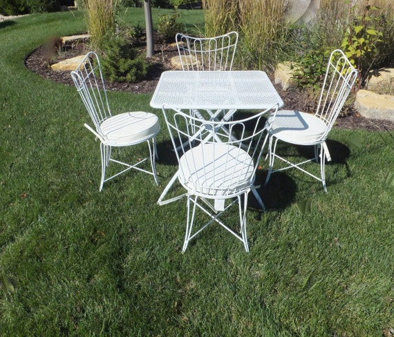 SOLD to CATYCATY5PC Homecrest Patio Set Tilt