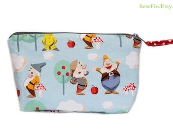Makeup Bag | Zipper Bag | 7 Dwarfs Pouch | Seven Dwarfs Bag | Zippered Bag | Woodlands Bag