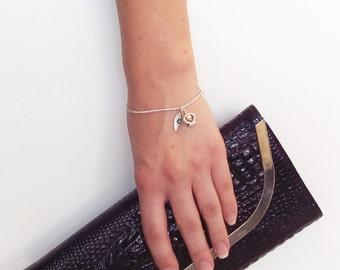 Silver 925 K Pomegranate Bracelet. Personalized gift for women.