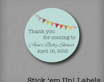 Custom Baby Shower Stickers Favor Labels Personalized Baby Shower Tags Mason Jar