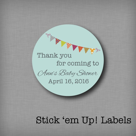 custom baby shower stickers favor labels personalized baby shower tags