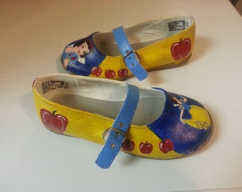 Children's Hand Painted Snow White Shoes