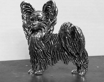 2 IN STOCK:   Papillon Dog Pendant.... Show Worthy