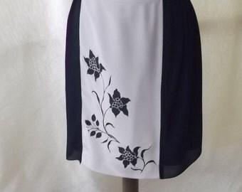 knee-length skirt and hand painted, elegant skirt