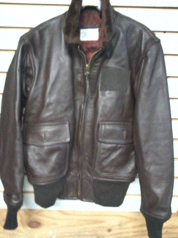 New US Navy Type G-1 Leather Jacket Available in Sizes