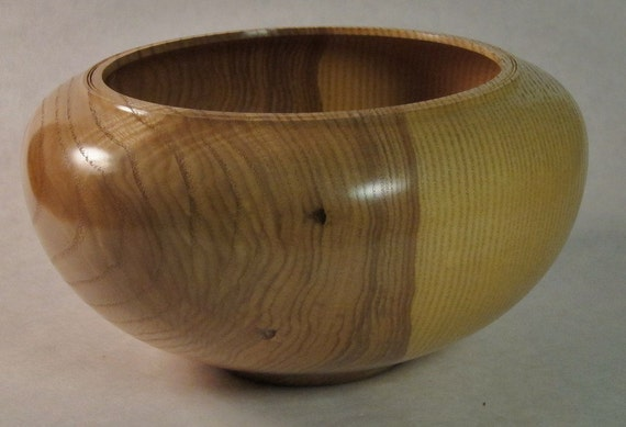 White ash wood bowl centerpiece wooden fine woodworking