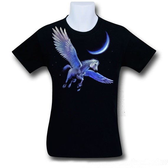 Pegasus airbrush t shirt the flying horse from by for Custom made airbrushed shirts