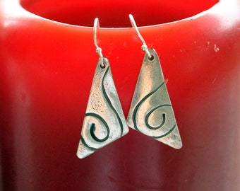 Fine Silver Dangle Earrings: classy and modern