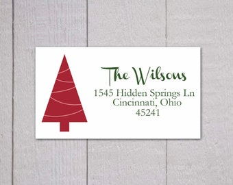 Christmas Return Address Stickers, Christmas Return Address Labels, Return Address Stickers (#312)
