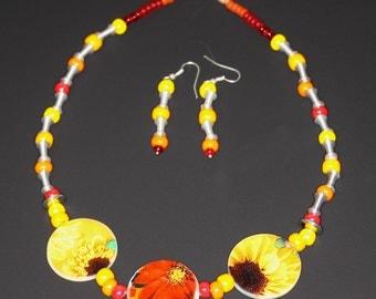 """Jewelry Set """"Sunflower"""""""