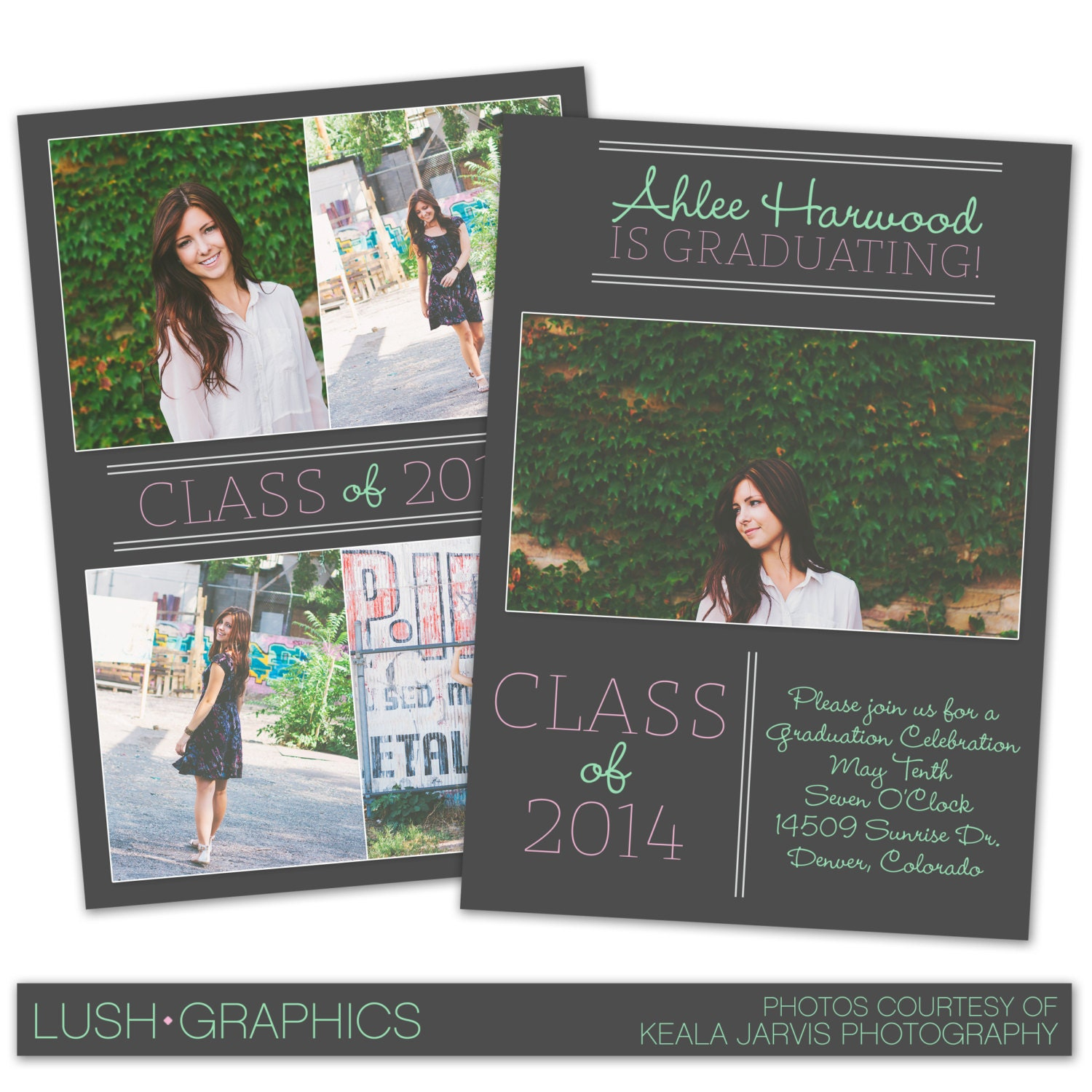 Psd photoshop template senior graduation announcement card for Free senior templates for photoshop