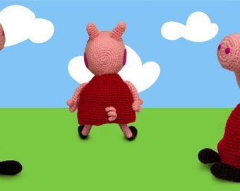 Pig Rabbit Amigurumi Patron : Items similar to Amigurumi Pig Crochet Pattern (Inspired ...