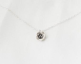 Delicate, Minimal Necklace, Flower Necklace