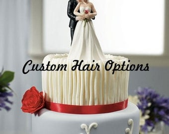 Personalized Wedding Cake Topper - Bridal Couple - Yes to the Rose - Weddings - Cake Topper - Modern - Romantic Cake Topper