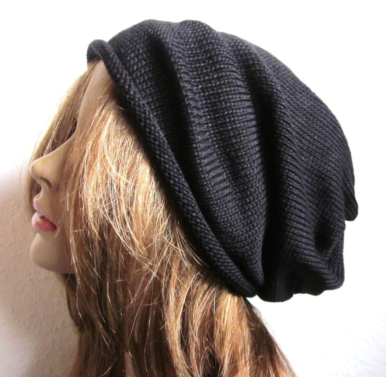 Knitting Pattern Long Beanie : extra long Knit Beanie Hat unisex merino hats Trendy
