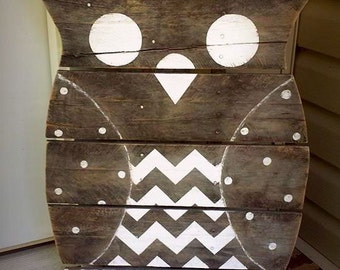 Reclaimed Wood Owl