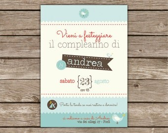 Printable birthday party invitation