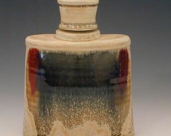 Handmade Ceramic Liquor Whiskey Flask in Porcelain Pottery