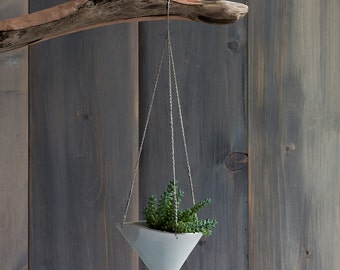 Small Porcelain Hanging Planter