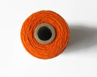 Bright Orange Bakers Twine - Solid Divine Twine - Crafting - Packaging - Invitation Wrapping String - Decorating - 240 Yards Full Spool Roll