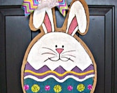 Burlap Easter Bunny Egg Door Hanging