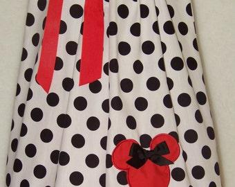Minnie Mouse Pillowcase Dress / Mickey / Disney / Red/ Black/ Newborn / Infant / Baby / Girl / Toddler / Handmade / Custom Boutique Clothing