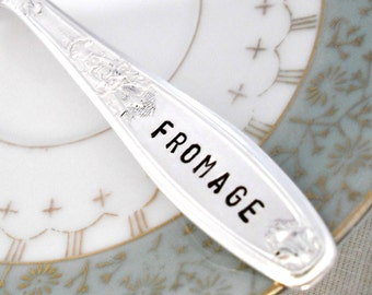 FROMAGE Hand Stamped Cheese Spreader Knife - Entertaining - Hostess Gift - Ambassador 1919