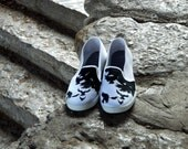 A Murder of Crows Painted Sneakers Women's Size 9