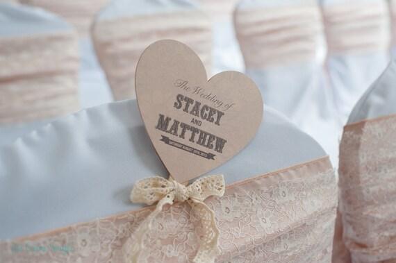 Small Wedding Program Fan Heart Shape Floral Luxe By LovePaperCo