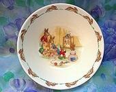 Royal Doulton Bunnykins Bowl Baby Bowl, Toddler Bowl Easter Bunny Rabbit Porcelain