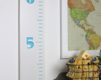 Carved Wooden Growth Chart Ruler for Children