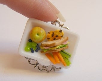 Food Jewelry Cafeteria Lunch Ring, Miniature Food Jewelry, Mini Food Jewellery, School Lunch Ring, Food Ring, Kawaii Ring, Food Charm, Apple