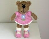 Stocking Stuffer Kids - Holiday Kids Gift - Gift for Girl - Knit Bear Stuffed Animal - Child Toy - Knit Toy - Kids Toy - Toddler Toy - Jada